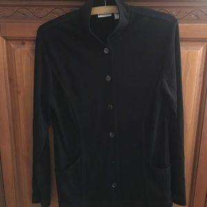 CHICO'S Black Button Down Jacket Chico's size 0 S
